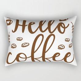 Hello Coffee Rectangular Pillow