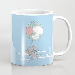 Elephant up in the sky Coffee Mug