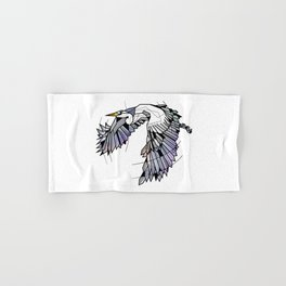 Heron Geometric Bird Hand & Bath Towel