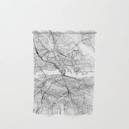 Stockholm White Map Wall Hanging