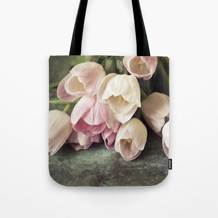 Vintage Tulips Tote Bag
