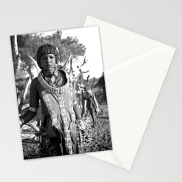 hammer tribal woman  Stationery Cards