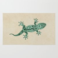 ornate Area & Throw Rugs featuring Ornate Lizard by Barruf