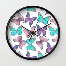 Flutter Butterfly Pattern Wall Clock