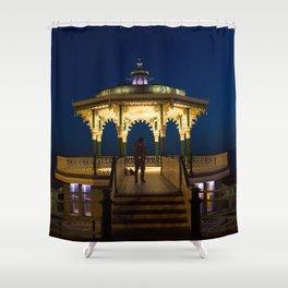 Brighton Bandstand at Night Shower Curtain