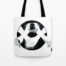 Friendship and enmity - Ink artwork Tote Bag