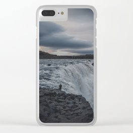 Dettifoss, the monster Clear iPhone Case