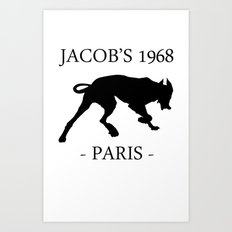 Black Dog Jacob's 1968 fashion Paris Art Print