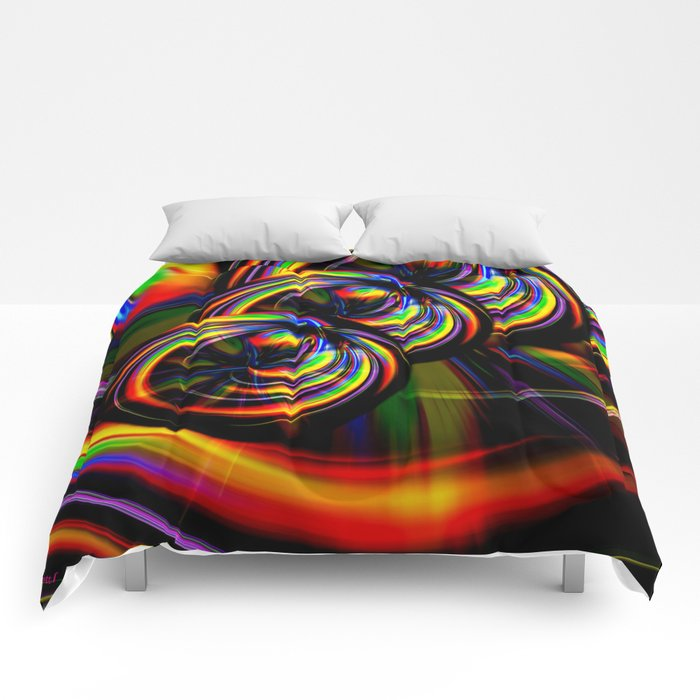 Creations in the color spectrum of the rainbow 3 Comforters