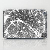 paris map iPad Cases featuring PARIS by Maps Factory