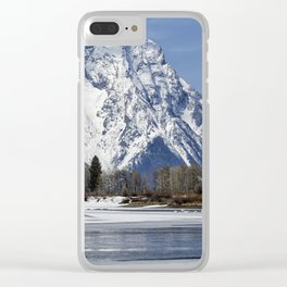 Mt Moran from Oxbow Bend Clear iPhone Case