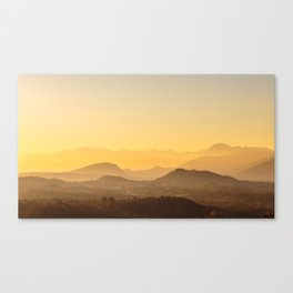 colorful autumn sunset in the italian countryside Canvas Print