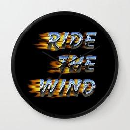 Ride the Wind Wall Clock