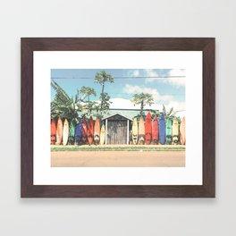 Surfboards Maui Hawaii Framed Art Print