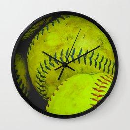 A Bucket Full of Softballs Wall Clock