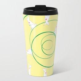 The Funny Bunnies in Lemon Yellow Travel Mug