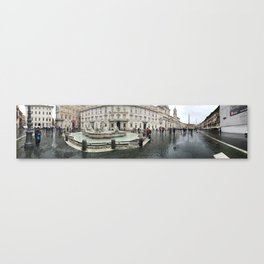 3 legged man in Piazza Navona Rome Italy Canvas Print