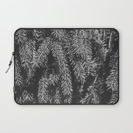Branches of spruce full frame nature background. Laptop Sleeve