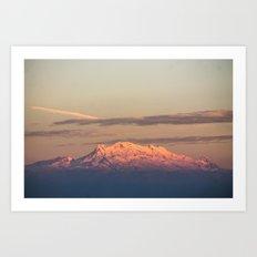 Volcán Iztaccíhuatl Art Print