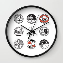 blurry icons Wall Clock