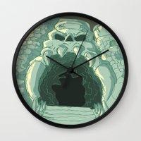 castle Wall Clocks featuring castle by neicosta