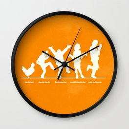 Bluth Chickens Wall Clock