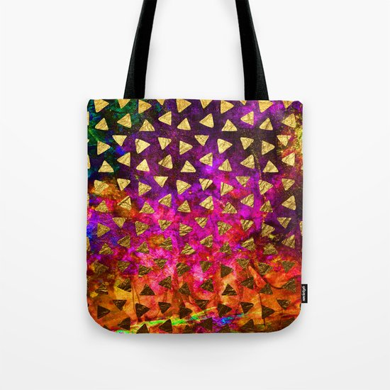 Triangles golden foil Tote Bag