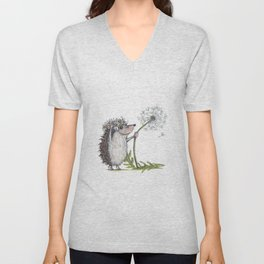 Hedgehog & Dandelion Unisex V-Neck