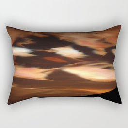 Cirrus clouds, morning, Antarctic winter landscape photograph Rectangular Pillow