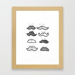 Moustache Men Framed Art Print