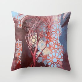 Constellation of Wood Throw Pillow