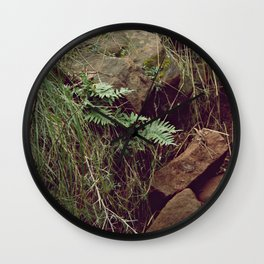 Red rocks in the forest V Wall Clock
