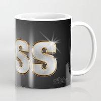 boss Mugs featuring Boss by MG-Studio