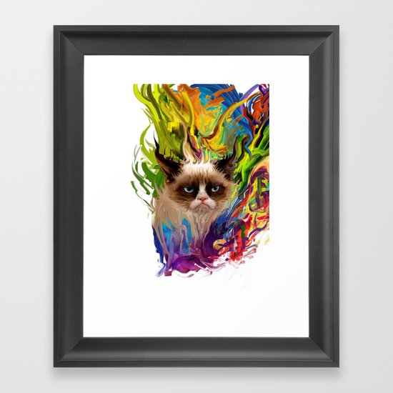 grumpys rich inner world Framed Art Print
