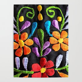 Mexican Flowers Poster