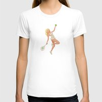 tennis T-shirts featuring Tennis Pinup by Anthony James Rich
