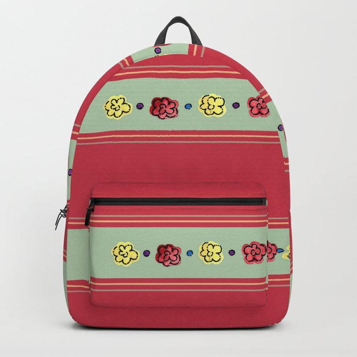 A Rosey Outlook Red Backpack