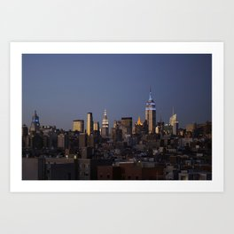 Evening Skyline - NYC Art Print