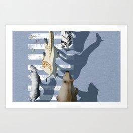 zebra crossing #1 Art Print