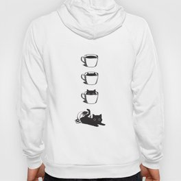 Morning Coffee, Cat in A Cup Hoody