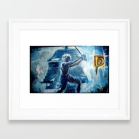 peter pan Framed Art Prints featuring Peter Pan by ANoelleJay