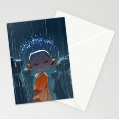 Monk in modern times Stationery Cards