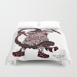 Chinese zodiac sign, Year of the Rat Duvet Cover