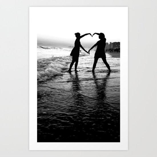 Love BW Art Print