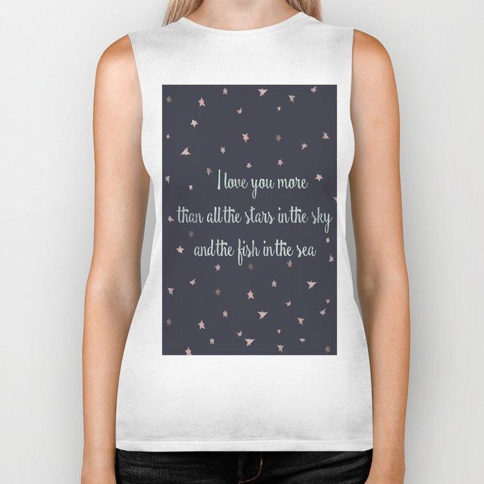 Love and the stars Biker Tank
