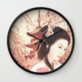 Asian Rose Wall Clock
