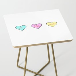 Conversation Hearts Side Table