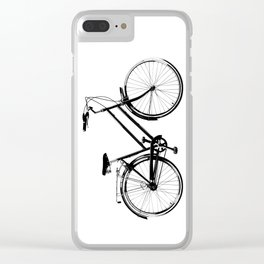 Vintage Bicycles Clear iPhone Case