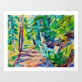 Isaac Grünewald - Emerald forest Art Print