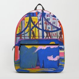 The Frankfurt Cathedral - Ernst Ludwig Kirchner Backpack